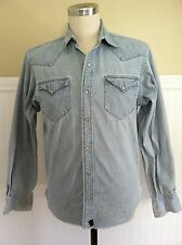 RALPH LAUREN RRL WESTERN SNAP SHIRT DENIM JEANS BLUE SOUTHWEST
