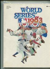 1983 World Series baseball program  MBX39