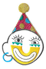 """Clown - Clown Face - Party - Circus - Embroidered Iron On Applique Patch -3.5""""H"""