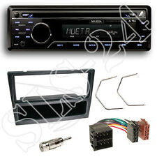 Mueta A4 CD USB SD FM Radio Set +Opel Astra G Agila Blende schwarz + ISO Adapter