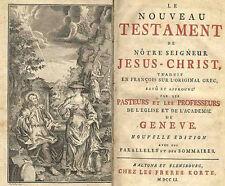 Nouveau Testament  L´Academie  De  Geneve 1751