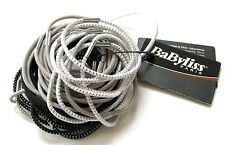Babyliss 50 x Hair Bands / Elastics - Black, Silver & White D31553 - 31809E