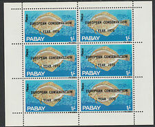 GB Locals - Pabay (983) 1970 European Conservation opt on FISH sheet of 6 u/m