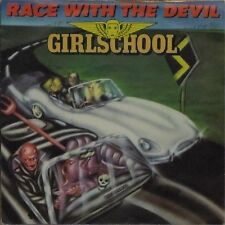 "GIRLSCHOOL 'RACE WITH THE DEVIL' UK PICTURE SLEEVE 7"" SINGLE"