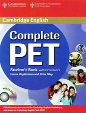 Cambridge English COMPLETE PET Student's Book without answers With CD-ROM @NEW@