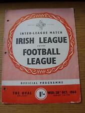 28/10/1964 Northern Ireland League v Football League [At Glentoran] (Punched Hol