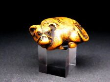 "Fine NETSUKE 18-19th C Japanese Edo Antique SAGEMONO for Inro ""Ox"" C977"