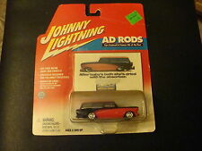 2002 Johnny Lightning 1/64 Scale AD Rods Red & Black 1959 Rumblur Wagon Car DC