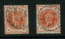 GB QV JUBILEE 1/2d...EAST GRINSTEAD FINE USED CDS POSTMARKS...2 stamps