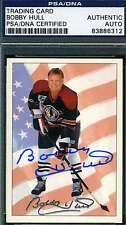 BOBBY HULL 1992 BLACKHAWKS PSA/DNA CERTIFIED SIGNED AUTHENTIC AUTOGRAPH