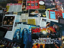 MEGADETH - MAGAZINE POSTER/CUTTINGS COLLECTION (REF X13E)