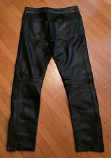 ISABEL MARANT BLACK LEATHER MOTORCYCLE BIKER PANTS 33R folsom st gay mister S