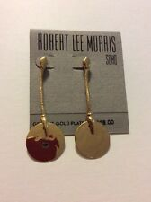 $28 Robert Lee Morris Long Disk Hammered Earrings RL 200