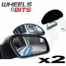 2 X ADJUSTABLE WIDE ANGLE CAR VAN BLINDSPOT BLIND SPOT TOWING DRIVING MIRRORS UK