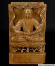 China 20. JH. libro pilar-a Chinese soapstone Buddha bookend-cinese chinois