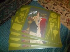 Vintage 1970's Coca Cola Coke Set Of 4 Place Mats W/ 1904 Lillian Russell Photo
