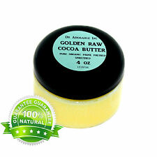 4 OZ GOLDEN COCOA BUTTER ORGANIC RAW PURE PRIME COLD PRESSED UNREFINED