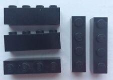 LEGO 3010 Noir lot de 5 Brique Poutre 1x4 Brick Black
