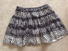 H&M Ladies Size S Black And White Skirt
