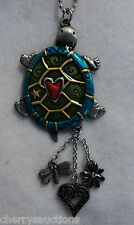 g TURTLE heart color CAR MIRROR CHARM JEWELRY REAR VIEW ornament ganz er26672