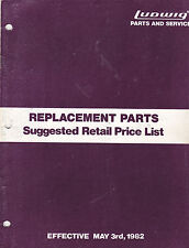 #MISC-0494 - MAY 3 1982 LUDWIG DRUM PARTS musical instrument catalog price list