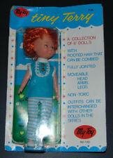 Vintage 1969 My Toy Company Inc. Tiny Terry Doll Original Outfit in Box Red Hair