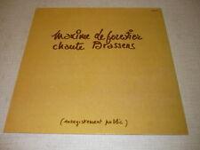 MAXIME LE FORESTIER 33 TOURS FRANCE CHANTE BRASSENS