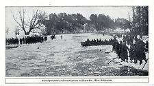 Eisbrecherarbeiten auf der Angerapp in Ostpreußen 1914 * WW 1
