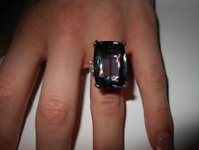 LARGE BEAUTIFUL 27.67 CT. SINGLE STONE TANZANITE RING with GIA, HDK & GRS CERTS
