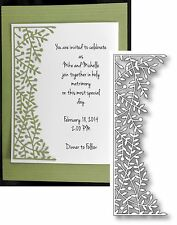 LEAFY SPRIG BORDER die 1002 Poppystamps dies Wedding Easter leaves Retired