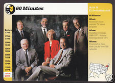 60 MINUTES TV Show Cast Andy Rooney Photo 1998 GROLIER STORY OF AMERICA CARD