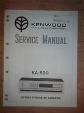 Kenwood Service Manual~KA-500 Amplifier/Amp~Original Repair Manual