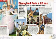Coupure de presse Clipping 2012 (2 pages ) Disneyland Paris à 20 ans