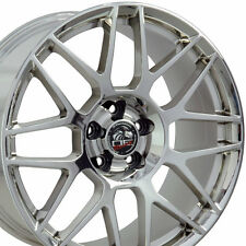 Set of Four 19x9.0 / 19x10.0 Inch OE Racing Chrome Wheels For Ford Mustang