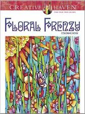 OVERSTOCK SALE ADULT COLORING BOOK ~ FLORAL FRENZY ~ REMOVEABLE PAGES 4 FRAMING