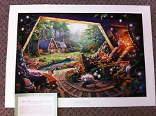 "Thomas Kinkade ""Snow White & Seven Dwarfs"" Signed & Numbered Disney Lithograph"