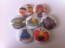 7 badges The Count Bert and Ernie Cookie Monster Elmo Big Bird Animal Grouch