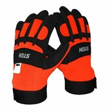STEIN Protective Gloves Size 9, Orange And Black, Chainsaw Hand Protection