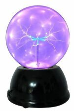 """Lightahead 6"""" Plasma Ball Lamp with Purple Color Butterfly globe design Touch..."""