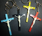 1960s Crucifix Keyring.... Choice of 4 Colours