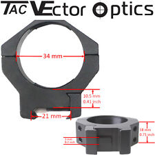 Vector Optics Tactical Mark 34mm Scope Rings Picatinny Mount Fit Schmidt Bender