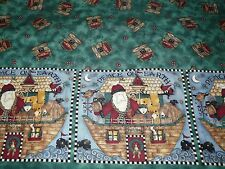 2 yards RARE Debbie Mumm Noah's Noel Double border Christmas cotton quilt fabric