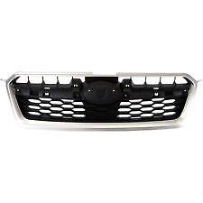 12-14 Impreza NEW Front Bumper Grille GRAY W/ CHROME MOLDING SU1200145