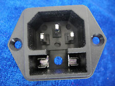 10,110v -240v Universal IEC320 C14 AC Inlet Power Socket W/ Fuse Protection,120B