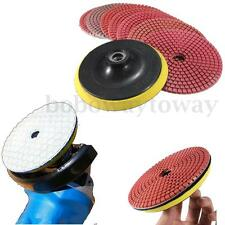 8x Wet/Dry 126mm 5 inch Diamond Polishing Pads Kits For Granite Marble Concrete