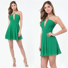 BEBE GREEN CROSS FRONT SKATER DRESS NWT NEW XSMALL XS SMALL S 4