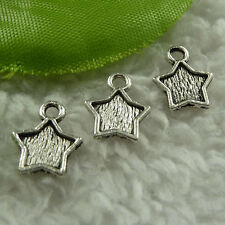 free ship 1000 pieces tibet silver star charms 12x10mm #3908