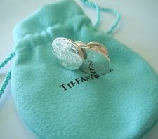 Please Return to Tiffany & Co.925 New York Men`s Sterling Silver Cuff Links