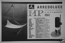 PUBLICITÉ 1957 LUMINAIRES ARREDOLUCE DISTRIBUTEUR EXCLUSIF - ADVERTISING