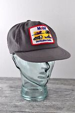Vtg Snapback Hat Mobil Oil Distribution Safety Cap Patch Trucker Gas Work USA